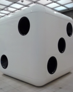 Dice (white body, black dots) 2014