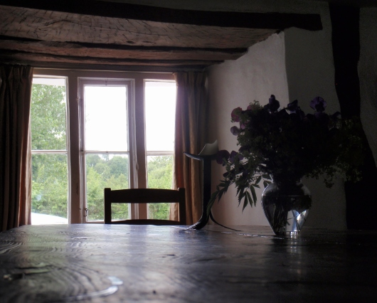 The Totleigh Barton communal dinner table