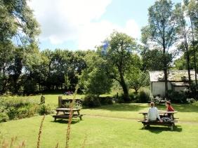 Writing in the garden at Totleigh Barton