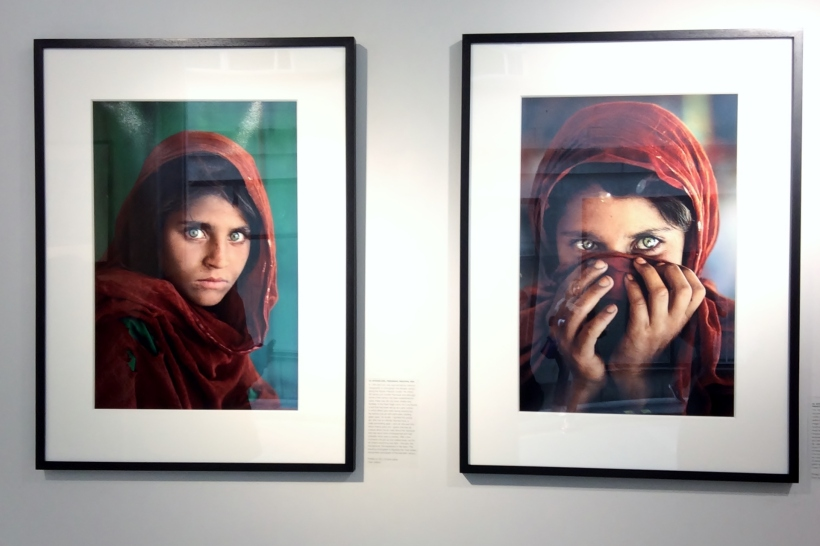 The Afghan Girl by Steve McCurry - two images 1984