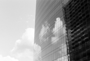 Clouds, sky and glass