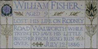Postman's Park memorial William Fisher 1886